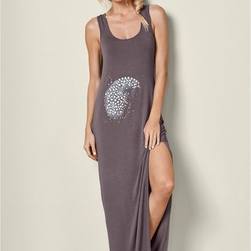 Grey Multi Maxi Sleep Dress from VENUS