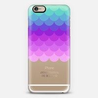 Pastel Ombre Scales Transparent iPhone 6 case by Organic Saturation | Casetify