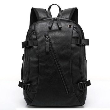 University College Backpack Male Leather  Men Casual  & Travel Bags Western  Style shoulder duffel bag Mochila ZipAT_63_4