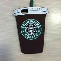 Hot Sale New 3D starbucks cup coffee ice cream rubber phone case silicone cover for iPhone 6 4.7 inch High Quality-in Phone Bags & Cases from Phones & Telecommunications on Aliexpress.com | Alibaba Group