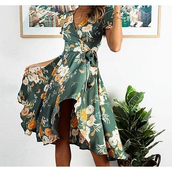 Rianda Floral Print Sash Dress