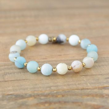 Communication - Matte Genuine Amazonite Bracelet