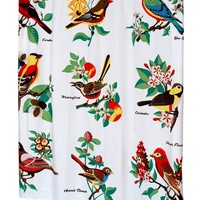 Audubon Fabric Shower Curtain