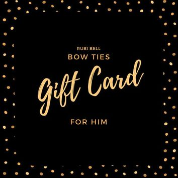 Gift card, gift certificate, bow ties gift card, gift card for a man, gift for men, last minute gift, present, Christmas, birthday