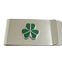 Green Shamrock Clover Money Clip