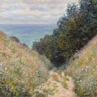 Claude Monet Road At La Cav E Pourville