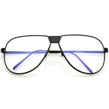 Oversize Retro Clear Lens Flat Top Glasses C350