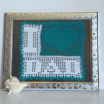Gift For Dad /Crochet I Love Dad/ Birthday Gift for Dad/Husband Gift/Dad Gift/Fathers Gift/Gift for Dad