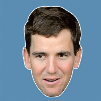 Surprised Eli Manning Mask - Perfect for Halloween, Costume Party Mask, Masquerades, Parties, Festivals, Concerts - Jumbo Size Waterproof Laminated Mask