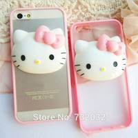 3D Cartoon Hello Kitty TPU+PC Phone Case Cover for iPhone 4 5 SE 6S Plus for Samsung S4 S5 S6 S7 A5 A7 A8 Edge Note 2 3 4 5 Case