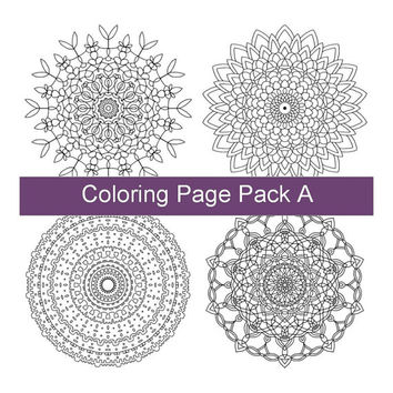 Four Adult Coloring Pages