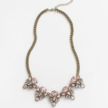 Elaine Pink Crystal Necklace