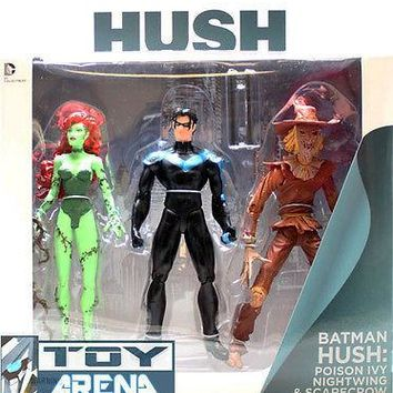 DC Comics Collectibles Batman Hush: Poison Ivy, Nightwing, Scarecrow 3-Pack Set