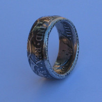 A *REALE* Spanish pirate ring crafted from an 1801 silver doubloon Men's size 12