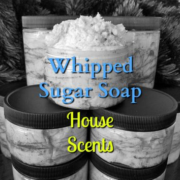 Sugar Whipped Soap w/ Shea Butter and Coconut - House Scents