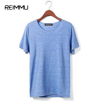 2017 New Arrival 7 Color Mens Tshirts Oversized Fitness Fashion Brand Mens Clothing Pure Color Men Casual Tees Big Size Hot Sale