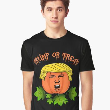 'Trump or treat ' Graphic T-Shirt by ValentinaHramov