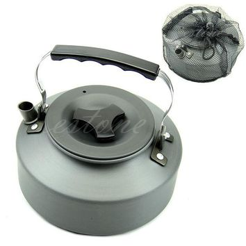 DCCKL72 1.1L Portable Outdoor Camping Survival Coffee Pot Water Kettle Teapot Aluminum
