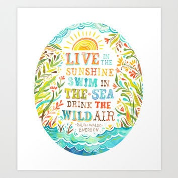 Wild Air Art Print by Katie Daisy