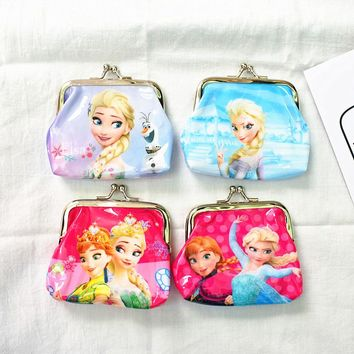 1pc 9x9cm Anna Elsa Princess Coin Purse kids wallet Girls Kids Cute money bag Children Party supplies Gift girls fashion bag