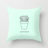 Plant Babies Throw Pillow by Gretchen M.
