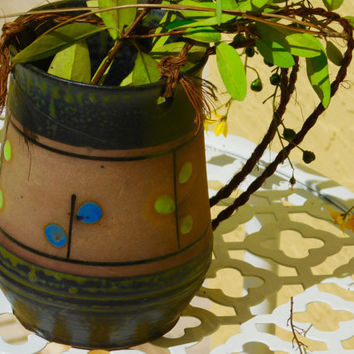 Pottery Hanging Planter, Vintage,Trendy and Artsy