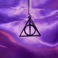 Deathly Hallows necklace by gabbeq on Etsy