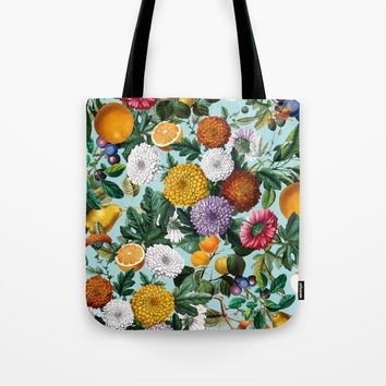 Summer Fruit Garden Tote Bag by burcukorkmazyurek