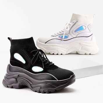 High Top Platform Sneakers For Women