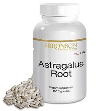 [Pack of 2] Bronson Astragalus Root 470 mg, 100 Capsules Each
