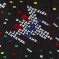 8 Bit Invaders Anklet - Sock Dreams - Unique Colorful Socks