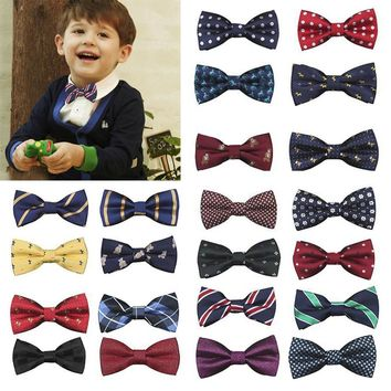 22 color!! New high quality School Boys Kids Children Baby Bow Wedding Party Striped Print  Colour Tie Necktie Fashion gentleman