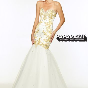 Paparazzi by Mori Lee 97073 Embroidered Mermaid Dress