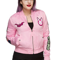 Overwatch D.Va Patches Bomber Jacket