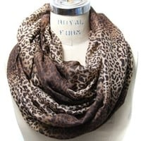 Scarfand's Colorful Leopard Print Infinity Scarf