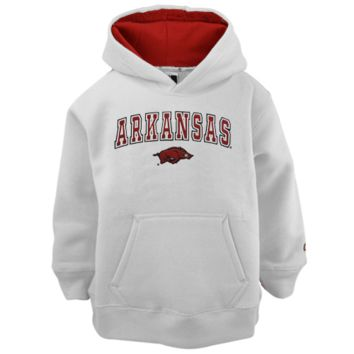 Arkansas Razorbacks Youth White Automatic Hoodie Sweatshirt - http://www.shareasale.com/m-pr.cfm?merchantID=7124&userID=1042934&productID=525462698 / Arkansas Razorbacks