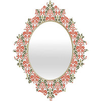 Raven Jumpo Coral Damask Baroque Mirror