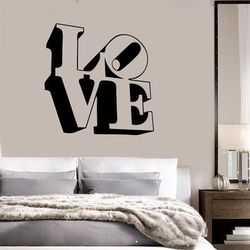 Vinyl Decal Love Lettering Romance Decor for Bedroom Wall Stickers Unique Gift (ig991)