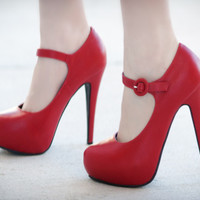 DbDk Fito-2 Red Maryjane Platform Stiletto Pump Shoes 4 U Las Vegas