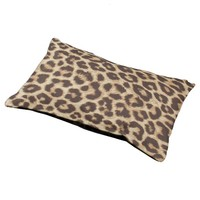 Leopard Print Small Dog Bed