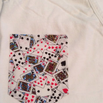 Playing Cards Pocket Tee, Tank, V-Neck, or Long Sleeve