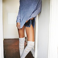Free People Womens Hold You Closer Pointelle Sock