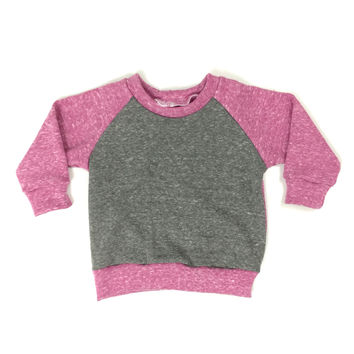 FRENCH TERRY COLORBLOCK RAGLAN - PURPLE