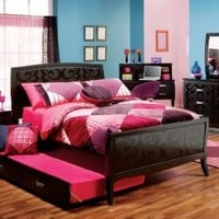 Belle Noir Cherry 3 Pc Full Bedroom :: Rooms To Go Kids - Kids Bedroom Sets