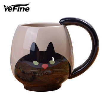Hand-painted Coffee Cup for Cat lovers