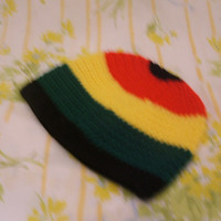 Holiday Special Crochet Rasta Beanie ready to ship