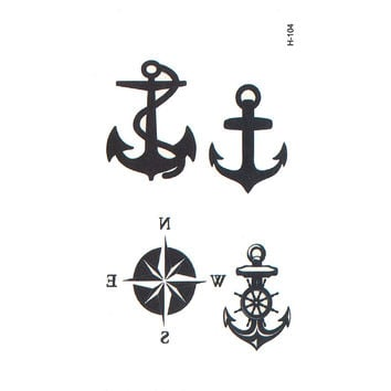 anchor temporary body arts flash tattoo compass temporary tattoos men tatouage temporaire henna tattoo tatuajes temporales tatoo