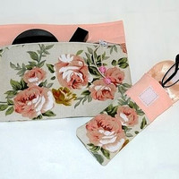 Cosmetics Bag with SPECIAL GIFT, Makeup storage bag, Travel Organizer. Hostess gift storage, Eyeglass cover