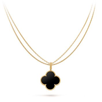 Magic Alhambra long necklace, 1 motif - VCARO49M00- Van Cleef & Arpels