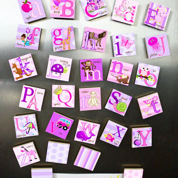 Girls Alphabet Magnets Learn Your ABC's MG0008